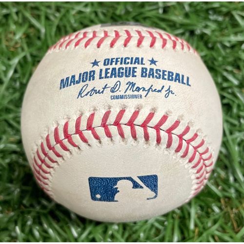 Photo of Game Used Baseball: Ryan O'Hearn Double off Austin Pruitt - April 23, 2019 v KC