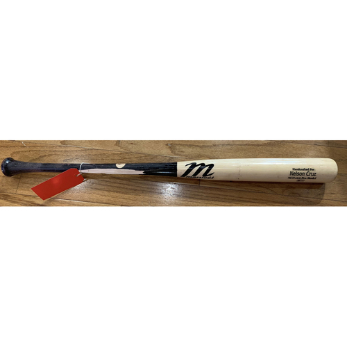 Photo of Bobby Dalbec April 14, 2021 Game 2 Game Used Nelson Cruz Model Bat - Single in the Top of the fifth