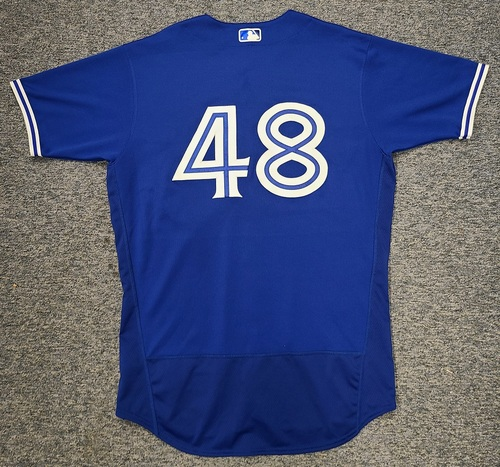 Photo of Authenticated Game Used Spring Training Jersey: #48 Ross Stripling (Mar 28, 2021: 5.2 IP, 1 ER, 2 Ks). Size 46.