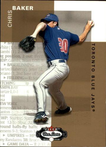 Photo of 2002 Fleer Box Score #132 Chris Baker RP RC