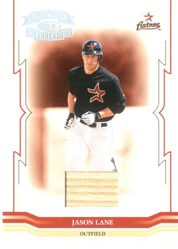 Photo of 2005 Throwback Threads Material Bat #232 Jason Lane/250