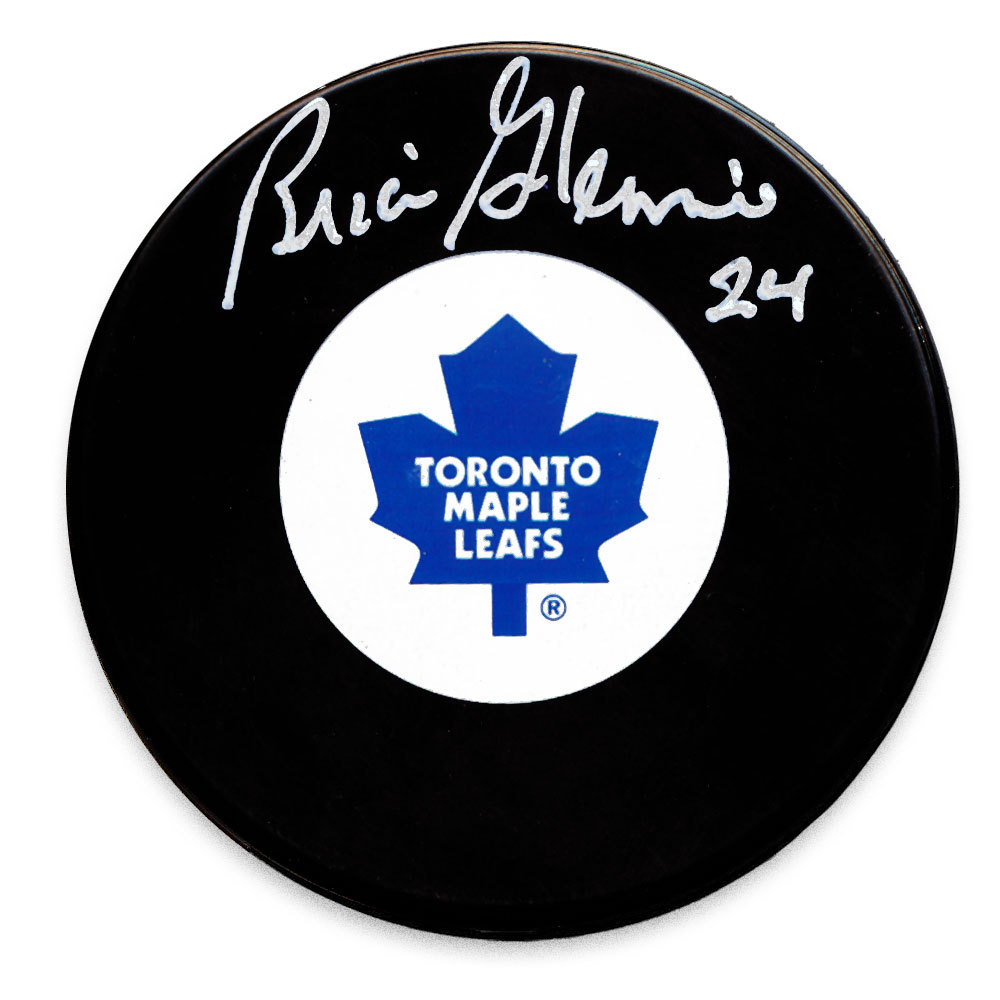 Brian Glennie Toronto Maple Leafs Autographed Puck