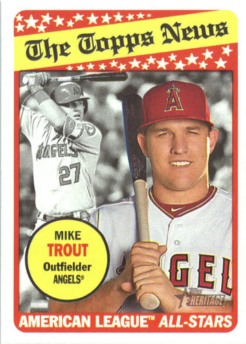Photo of 2018 Topps Heritage #47 Mike Trout