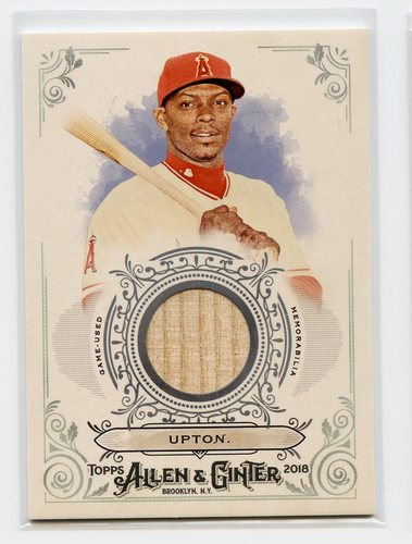 Photo of 2018 Topps Allen and Ginter Relics #FSRBJU Justin Upton B