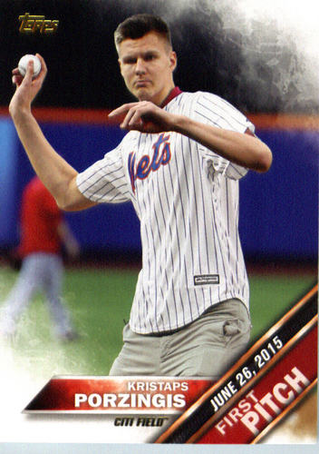 Photo of 2016 Topps First Pitch #FP8 Kristaps Porzingis