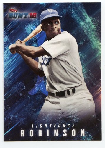 Photo of 2016 Topps Bunt Light Force #LF21 Jackie Robinson