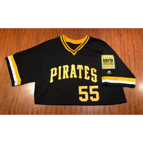 Photo of Josh Bell Game-used Jersey and Helmet - 1979 World Series Celebration