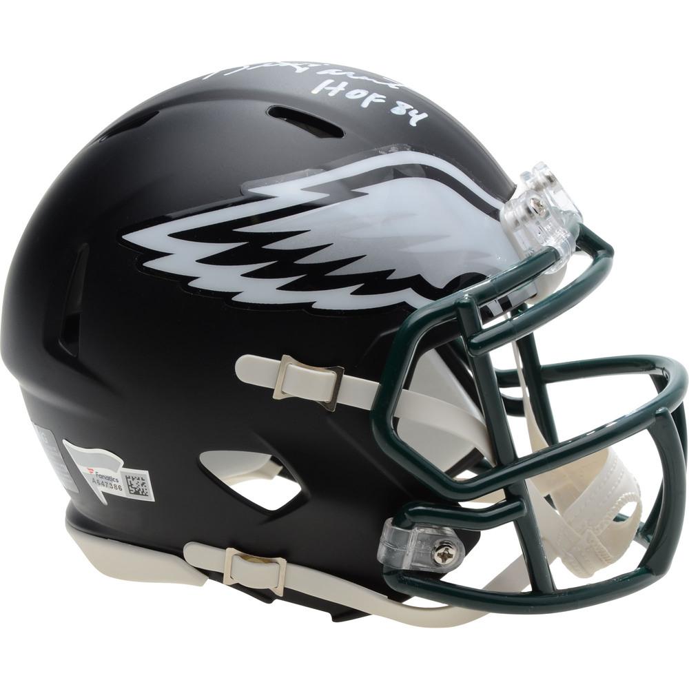 Bernie Parent Philadelphia Flyers Autographed Philadelphia Eagles Black Matte Mini Helmet with