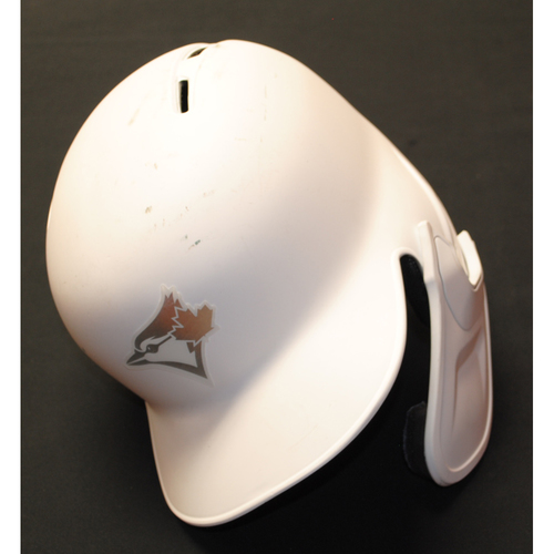 """Photo of Randal """"GRICH"""" Grichuk Toronto Blue Jays Game-Used 2019 Players' Weekend Helmet"""