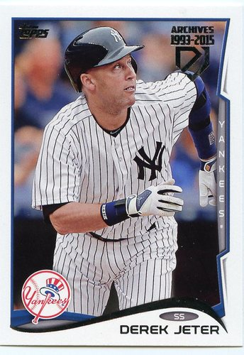 Photo of 2017 Topps Archives Derek Jeter Retrospective #DJ22 Derek Jeter/'14 Topps REPRINT