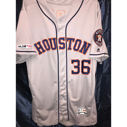 Photo of 2019 Game-Used Will Harris Road Gray Jersey (Size 48)