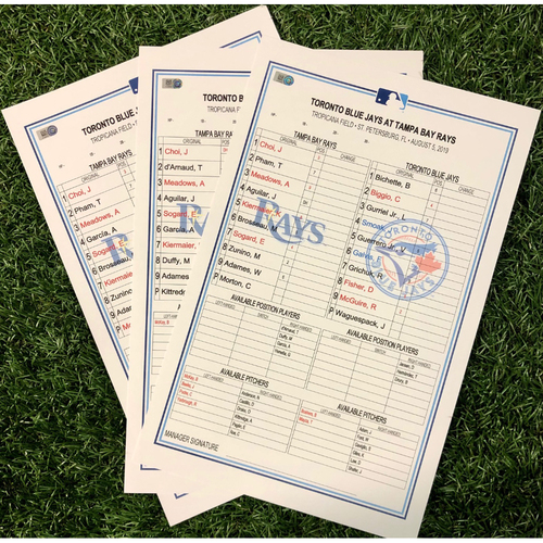 Replica Lineup Card Package