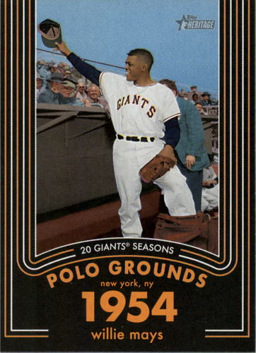 Photo of 2020 Topps Heritage 20 Gigantic Seasons #4 Willie Mays