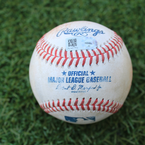 Photo of Game-Used Baseball: Nick Heath 2nd Career Hit (MIN @ KC 8/7/20)