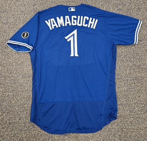 Photo of Authenticated Team Issued Jersey: #1 Shun Yamaguchi (2020 Season). Set 2. Size 50.