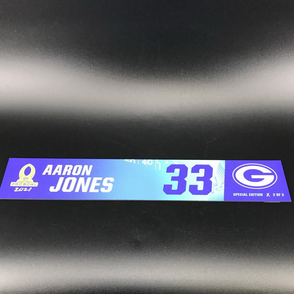 NFL - Packers Aaron Jones 2021 Pro Bowl Locker Nameplate Special Edition #2 of 5