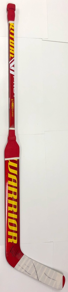 #25 Jacob Markstrom Game Used Stick - Autographed - Calgary Flames
