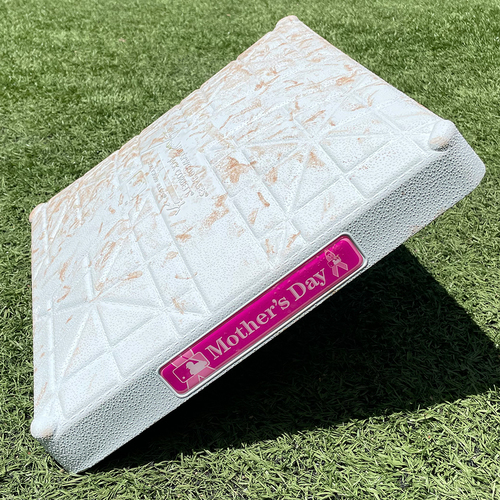 Photo of Game Used Mother's Day Base - 2nd Base, Innings 1-3 - deGrom Single, Run Scored - Mets vs. Diamondbacks - 5/9/21