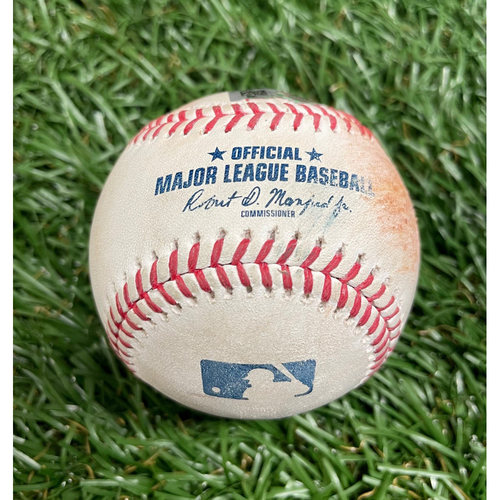 Photo of Game Used Baseball: Yandy Diaz double off David Peterson - Bottom 2 - May 14, 2021 v NYM