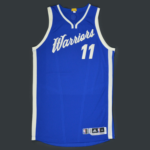 Klay Thompson - Golden State Warriors - Game-Worn Jersey - NBA Christmas Day '15 | NBA Auctions