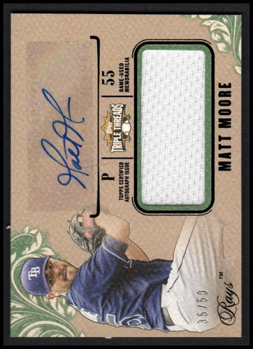 Photo of 2014 Topps Triple Threads Unity Relic Autographs Emerald #UAJRMMO Matt Moore
