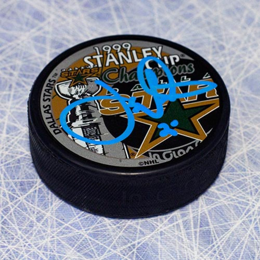 Joe Nieuwendyk Dallas Stars Autographed 1999 Stanley Cup Puck