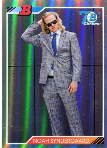 Photo of 2017 Bowman Chrome '92 Bowman Refractors #92BNS Noah Syndergaard