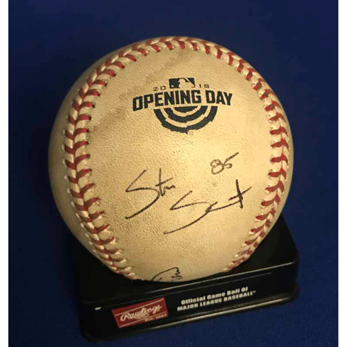 Photo of UMPS CARE AUCTION: Arizona Diamondbacks Game-Ready Opening Day Baseball Signed by Umpire Crew - NOT MLB Authenticated