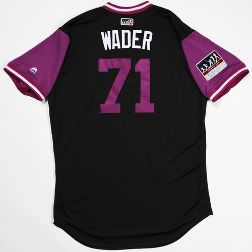 "Photo of Wade ""Wader"" Davis Colorado Rockies Game-Used 2018 Players' Weekend Jersey"
