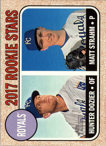 Photo of 2017 Topps Heritage #203 Hunter Dozier RC/Matt Strahm RC