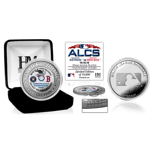 Photo of Boston Red Sox 2018 ALCS Victory Silver Color Coin