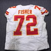 NFL - Chiefs Eric Fisher Signed Game Used Jersey Size 46 (11/19/18)