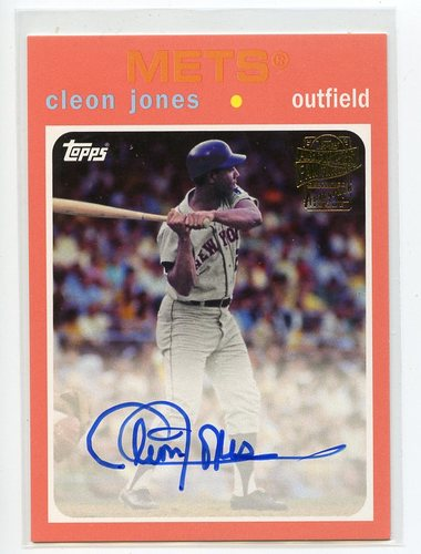 Photo of 2017 Topps Archives Fan Favorites Autographs Peach #FFACJ Cleon Jones 107/150