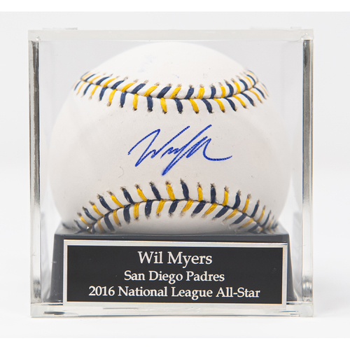 Wil Myers 2016 All Star Game Logo Autographed Baseball (Not MLB Authenticated, COA Included)