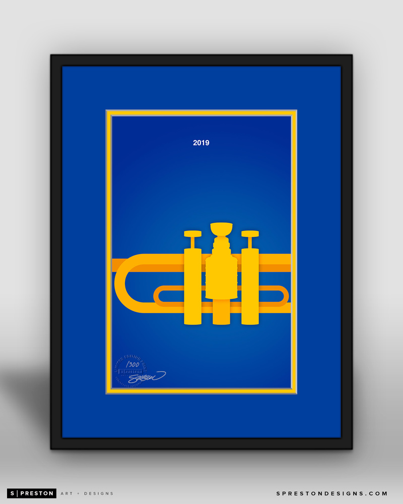 St. Louis Blues Minimalist Stanley Cup 2019 Limited Edition Art Print (#6/300)