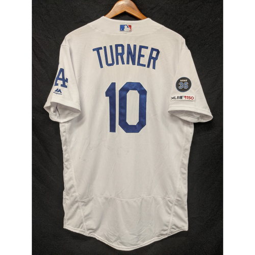 Photo of Justin Turner Team-Issued 2019 Home Jersey