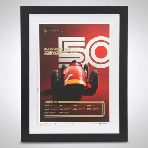 Photo of World Champions Automobilist Poster 1950-1959