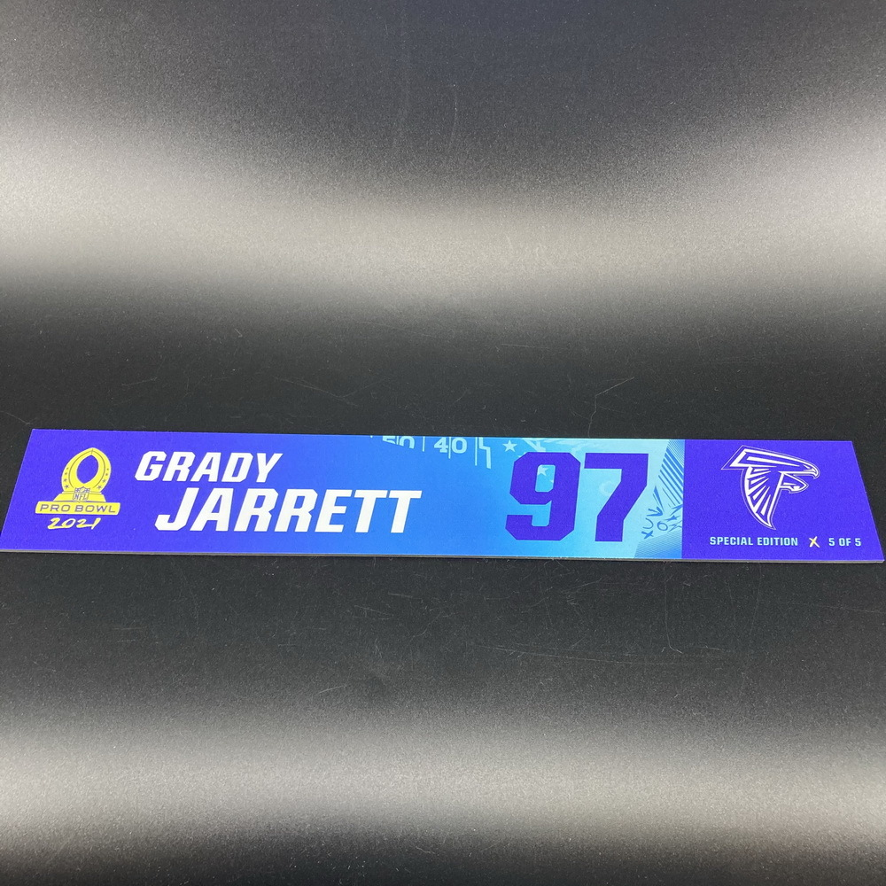 NFL - Falcons Grady Jarrett 2021 Pro Bowl Locker Nameplate Special Edition #5 of 5