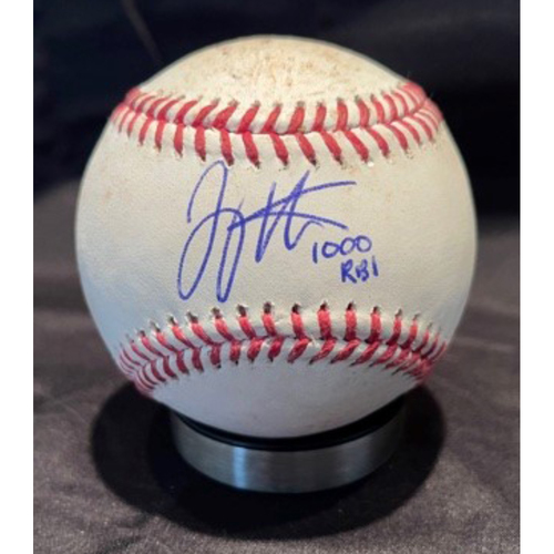 Photo of Joey Votto *Game-Used, Autographed & Inscribed* Baseball from 1,000th Career RBI Game - Vladimir Gutierrez to Jake Cronenworth (Foul) -- 06/30/2021 - SD vs. CIN - Top 5