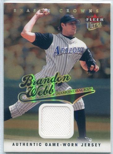 Photo of 2004 Ultra Season Crowns Game Used Gold #164 Brandon Webb Jsy