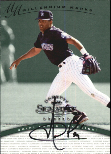 Photo of 1997 Donruss Signature Autographs Millennium #97 Neifi Perez