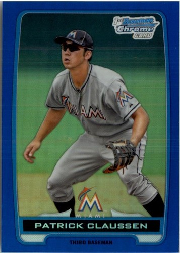 Photo of 2012 Bowman Chrome Draft Draft Picks Blue Refractors #BDPP156 Patrick Claussen