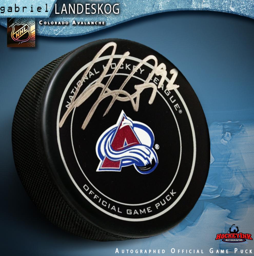 GABRIEL LANDESKOG Signed Colorado Avalanche Official Game Puck