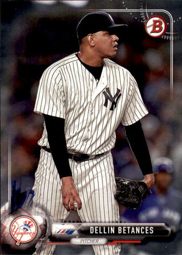 Photo of 2017 Bowman #72 Dellin Betances -- Yankees post-season