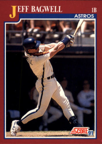 Photo of 1991 Score Rookie/Traded #96T Jeff Bagwell Rookie Card