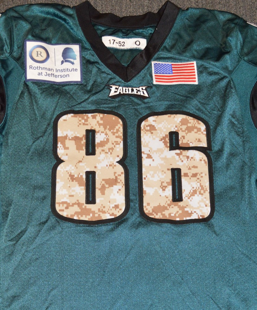 buy popular 29790 f80ad NFL Auction | EAGLES - Zach Ertz SALUTE TO SERVICE SIGNED ...