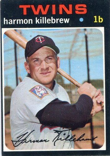 Photo of 1971 Topps #550 Harmon Killebrew -- Hall of Fame Class of 1984