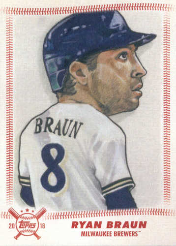 Photo of 2018 Topps Big League Star Caricature Reproductions #SCRRB Ryan Braun