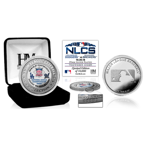 Photo of Los Angeles Dodgers 2018 NLCS Victory Silver Color Coin