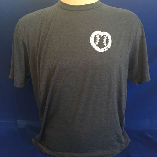 Photo of UMPS CARE AUCTION: UMPS CARE Baseball Heart Logo Men's T-Shirt, Navy with White Heart (Select Your Size)